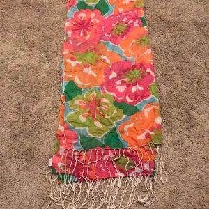 Floral murfee fringe scarf colorful